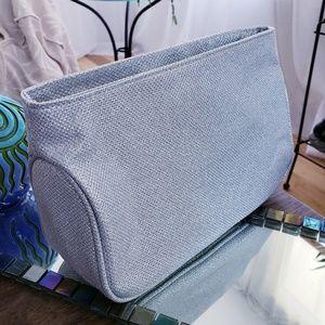 Handbags - NEW Silver Makeup Cosmetic Bag
